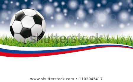 mundo · campeonato · fútbol · fútbol · Rusia · bandera - foto stock © limbi007