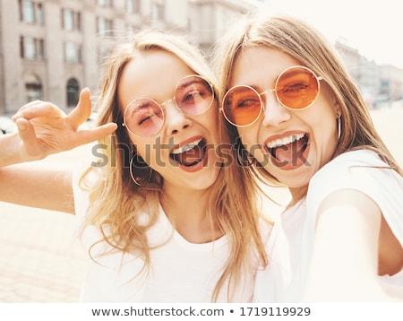 портрет два привлекательный женщины гламур макияж Сток-фото © NeonShot