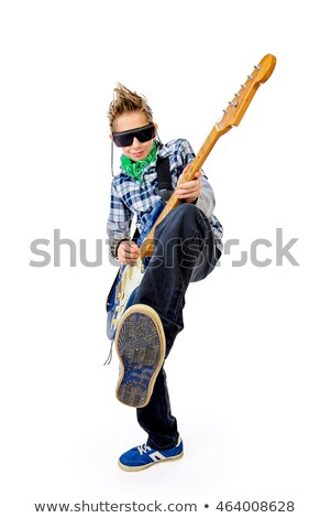 school boy White_pop music Stock photo © toyotoyo