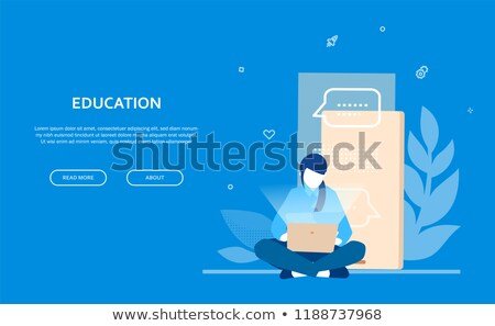 Stock photo: Business research - flat design style colorful illustration
