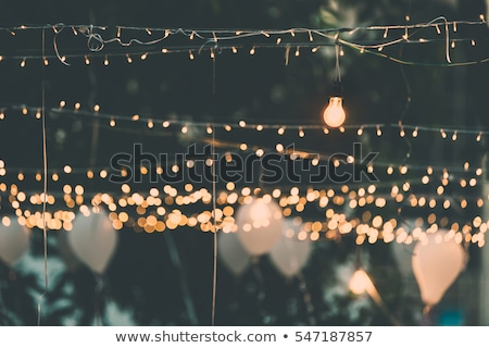 Foto d'archivio: Light Bulb Decor In Outdoor Party Party