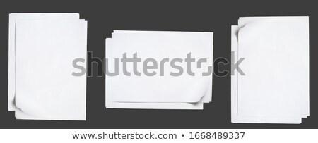 toplama · kağıtları · yeni · madde · iş · dizayn - stok fotoğraf © adamson