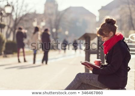 ahşap · bank · sonbahar · park · yol · ahşap - stok fotoğraf © boggy