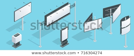 Stad adverteren billboard isometrische ingesteld verschillend Stockfoto © tashatuvango