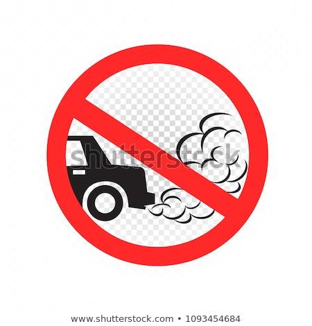 fumée · épuiser · pipe · voiture · vert · vitesse - photo stock © romvo