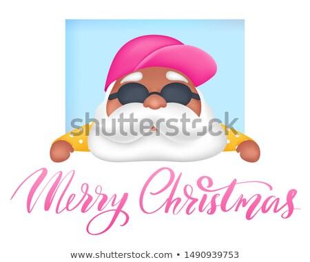 Napos vidám karácsony mikulás tengerpart vektor Stock fotó © robuart