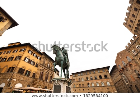 Lovas Florence Olaszország szobor kultúra szobor Stock fotó © boggy