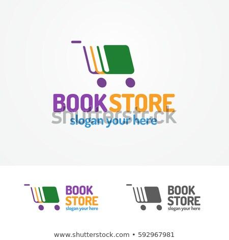 цвета Vintage книгах магазин эмблема книжный магазин Сток-фото © netkov1