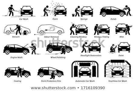 Wipe car window icon Stock photo © angelp
