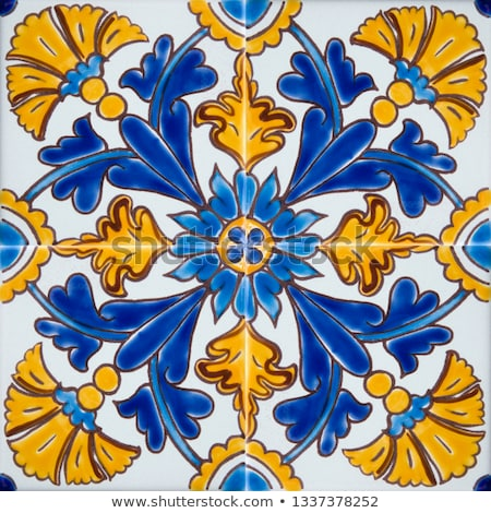 Traditional colorful tiles from Malta Stock photo © boggy