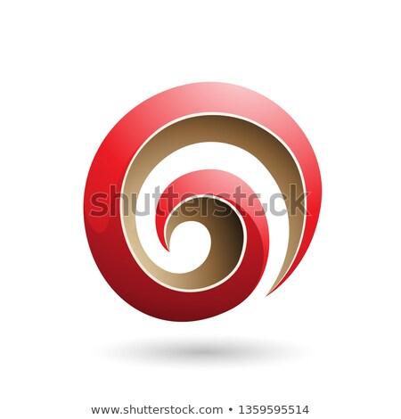 Rojo beige 3D remolino forma Foto stock © cidepix