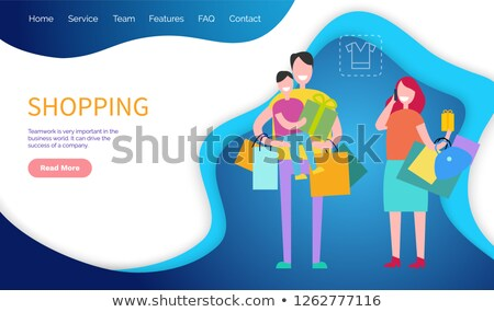 Shopping Teamwork Important World Business Vector Foto stock © robuart