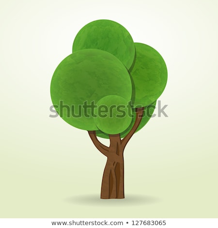 Cartoon Style Abstract Trees Vector Isolated Icons Stock foto © robuart