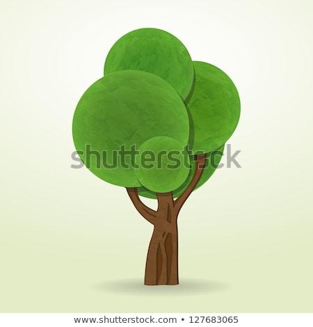 cartoon style abstract trees vector isolated icons stock photo © robuart