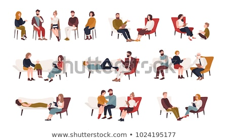 paar · arts · kantoor · schrijven · sofa · vrouwelijke - stockfoto © andreypopov
