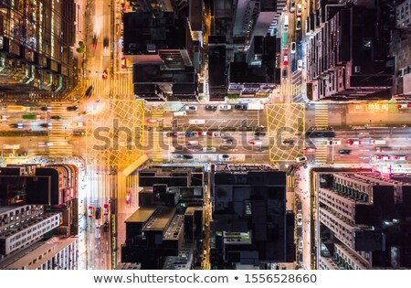 nuit · feux · de · circulation · verre · trafic - photo stock © jamdesign