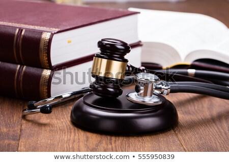 Estetoscópio gabela secretária Foto stock © AndreyPopov