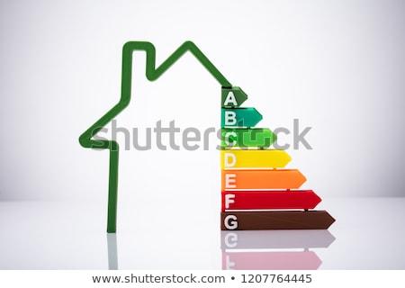 Faible maison efficacité énergétique taux blanche bureau Photo stock © AndreyPopov