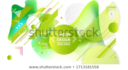 einfache · grünen · Symbole · Web-Design · Blumen - stock foto © frimufilms