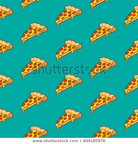 Seamless pattern color pizza with salami Stock photo © netkov1