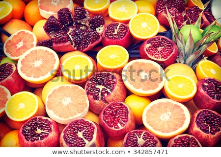 set of fruits on the market in istanbul turkey stock photo © boggy