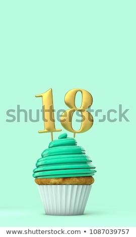 ケーキ キャンドル 番号 18 ストックフォト © Zerbor