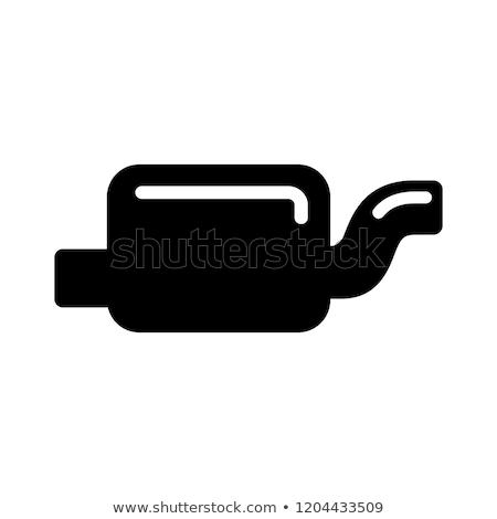 épuiser pipe icône blanche voiture art Photo stock © smoki