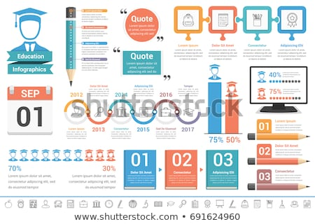 pencil and education infographic stock photo © -talex-