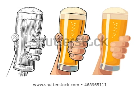 oktoberfest · anunciante · salto · gafas · cerveza - foto stock © pikepicture