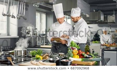 два женщины Повара кухне отель Сток-фото © wavebreak_media