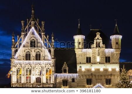 Stad hal markt vierkante huis reizen Stockfoto © borisb17