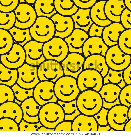 Fun emoticon seamless pattern yellow smiley face Stock photo © cienpies