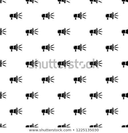 Voz controlar vetor fino linha Foto stock © pikepicture