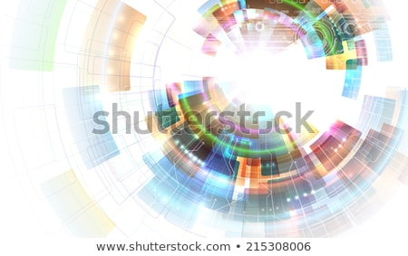 аннотация белый концентрический мозаика вектора Сток-фото © fresh_5265954