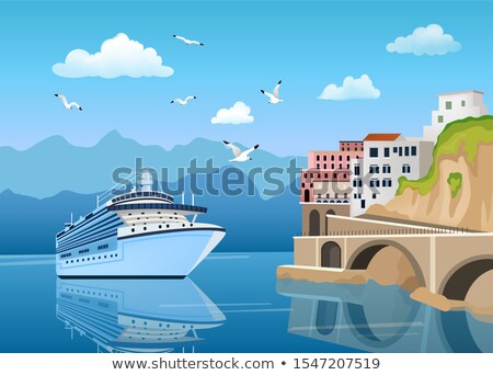 Paisagem cruzeiro costa edifícios casas Foto stock © MarySan