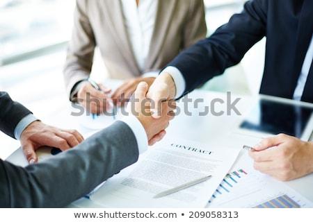 сотрудничество стратегия рукопожатие договор соглашение подписи Сток-фото © cifotart
