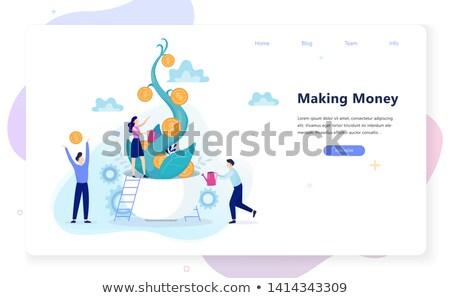Vállalkozás beruházás pici üzletemberek befektetés innováció Stock fotó © RAStudio