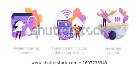 Water contamination detection system concept vector illustration Stock photo © RAStudio