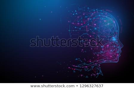 Dijital yapay zeka parçacık yüz iş soyut Stok fotoğraf © SArts