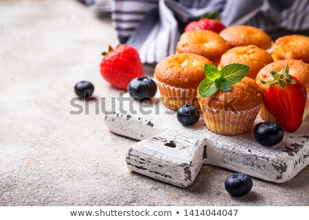 Summer mini cupcakes with berry Stock photo © furmanphoto