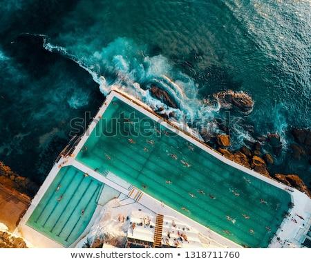 Rock piscine côte Sydney Australie Photo stock © lovleah