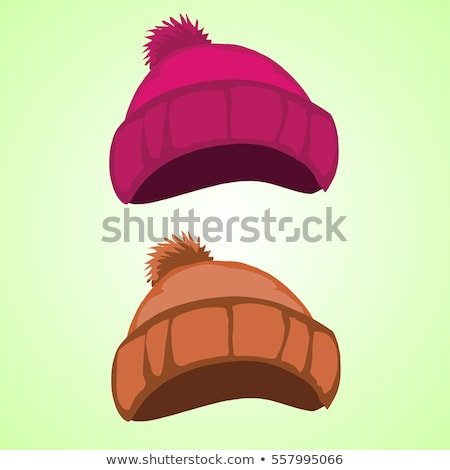 Winter hoed wollen kleur vector gebreid Stockfoto © pikepicture