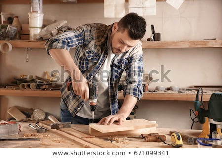 Man creating project Stock photo © jossdiim