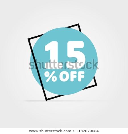 Korting 15 procent af verkoop nieuwe Stockfoto © robuart