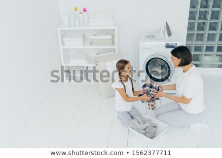 母親 主婦 娘 ロード 洗濯機 汚い ストックフォト © vkstudio
