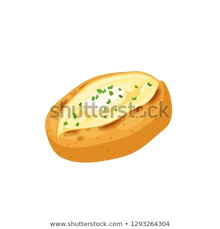 Ziemniaki zioła masło obiedzie Zdjęcia stock © joannawnuk