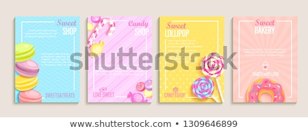 Bakery Sweet Desserts Advertising Poster Vector Stock photo © pikepicture