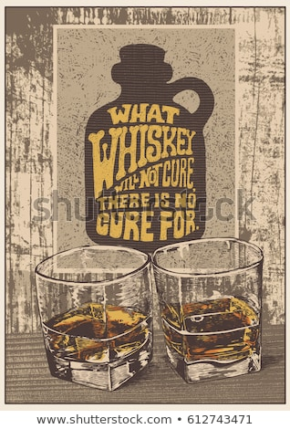 Whiskey Relaxation Bar Advertise Poster Vector Stock photo © pikepicture