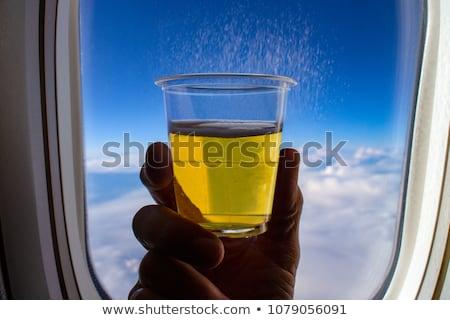 алкоголя пить самолет лоток таблице стороны Сток-фото © AndreyPopov