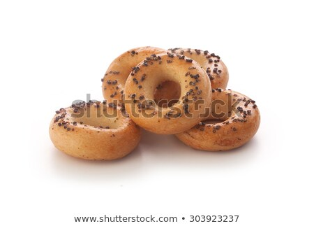 Klein zoute krakeling ringen traditioneel zout houten Stockfoto © grafvision